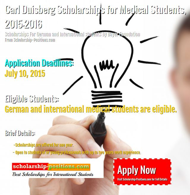 Carl Duisberg Scholarships for Medical Students - 2