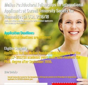 Mellon Postdoctoral fellowship