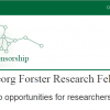 Georg Forster Research Fellowships (HERMES) for Developing Countries in Germany, 2017