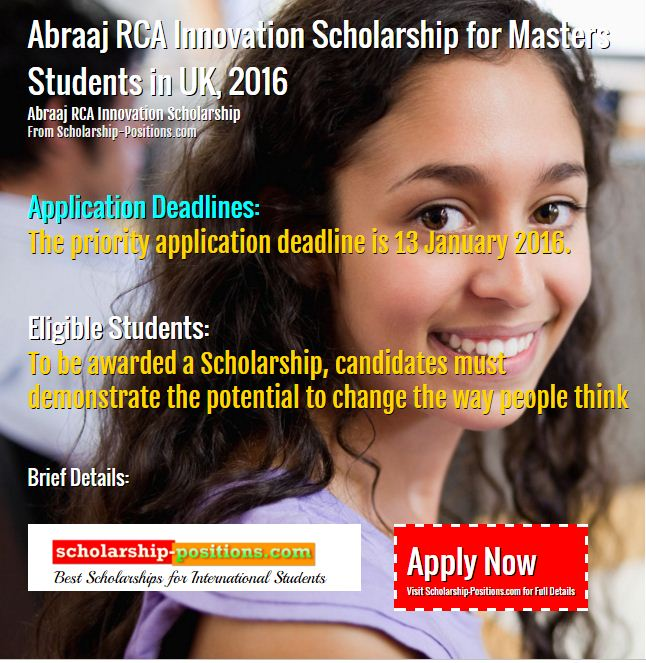 Abraaj RCA Innovation Scholarship