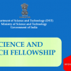 India Science and Research Fellowships