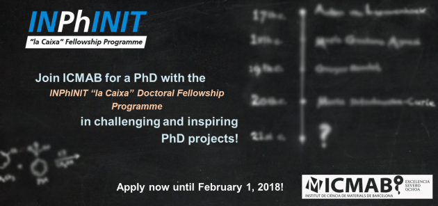 """36 INPhINIT, """"la Caixa"""" Doctoral Fellowships for International Researchers in Spain, 2018"""